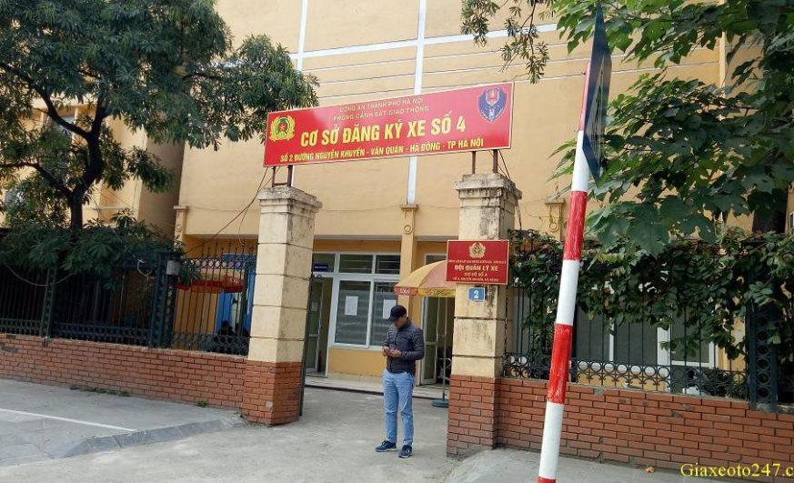 Diem dang ky xe so 4 2 nguyen khuyen ha dong 873x531 - Thời gian làm việc và Địa chỉ các điểm đăng ký ô tô tại Hà Nội