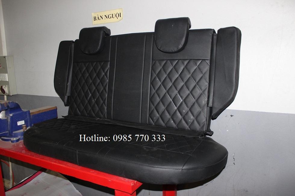 Do hang ghe sau xe spark van mau den 1b - Lắp độ hàng ghế sau xe Spark Van, Morning Van - giao hàng Toàn Quốc