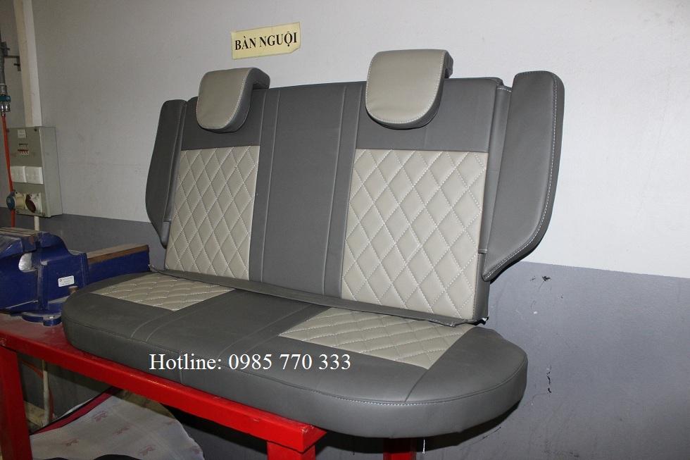 Do hang ghe sau xe spark van mau ghi xam 1b - Lắp độ hàng ghế sau xe Spark Van, Morning Van - giao hàng Toàn Quốc