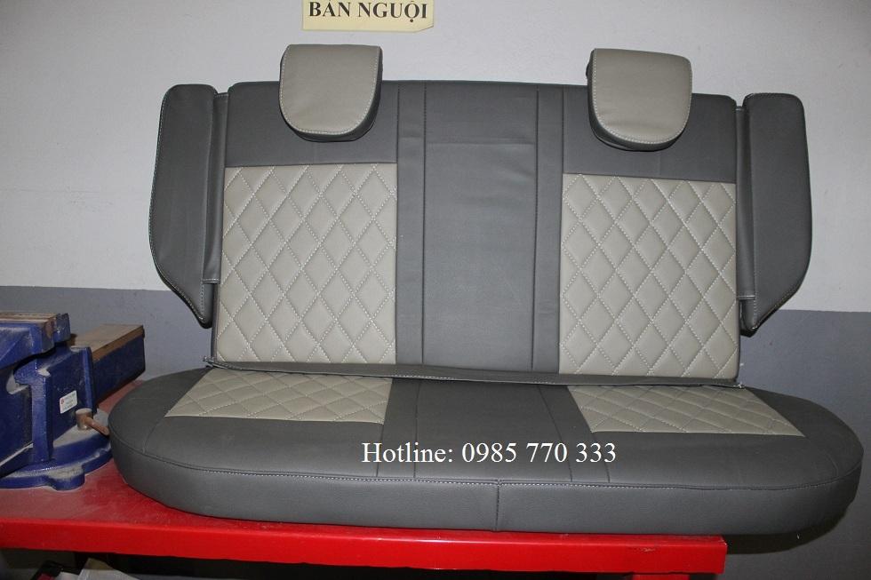 Do hang ghe sau xe spark van mau ghi xam b - Lắp độ hàng ghế sau xe Spark Van, Morning Van - giao hàng Toàn Quốc