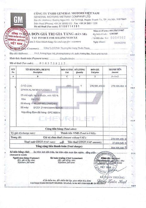 Hoa don nha may 490x700 - Thủ tục đăng ký, đăng kiểm xe ô tô