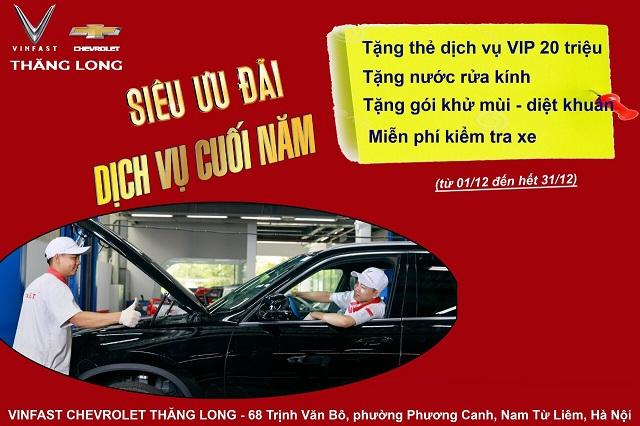 vinfast chevrolet thang long uu dai bao duong dich vu dip cuoi nam - VinFast Chevrolet Thăng Long - 68 Trịnh Văn Bô