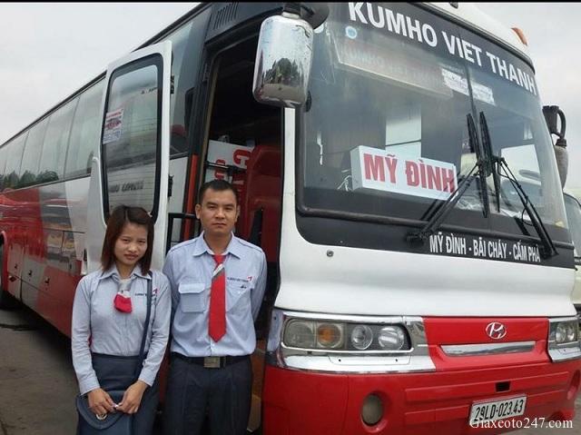 Top nha xe Vip xe Limousine Ha Noi Quang Ninh xe Kumho Viet Thanh - Top 15 nhà xe Limousine đưa đón tận nơi Hà Nội - Quảng Ninh chất lượng cao