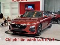 Chi phi lan banh VinFast Lux A2.0 3 - Chi phí lăn bánh, chi phí ra biển VinFast Lux A 2.0 (sedan)
