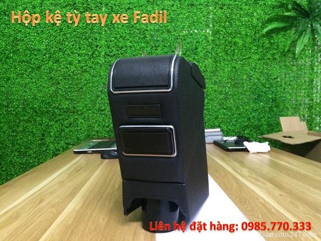 Hop ke ty tay fadil 5 - Hộp kệ tỳ tay xe VinFast Fadil, thiết kế theo xe, không bắt vít, lắp đặt dễ dàng