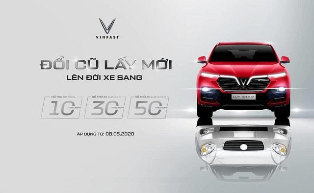 """VinFast chuong trinh doi cu lay moi - VinFast ra chương trình chưa từng có tại Việt Nam: """"Đổi xe cũ - Lấy xe mới"""""""