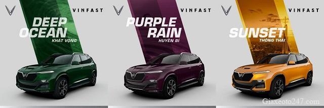 VinFast President co may mau - Bảng giá, Thông số kỹ thuật xe VinFast President V8 2021