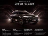 Lộ trình trưng bày xe VinFast President từ 07/09/2020