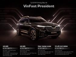 Lo trinh trung bay VinFast President - Lộ trình trưng bày xe VinFast President từ 07/09/2020