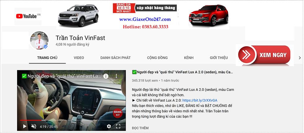 Youtube Tran Toan VinFast 1 - Bọc vô lăng da cao cấp dành cho ô tô